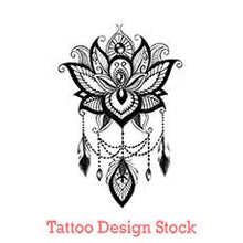 Load image into Gallery viewer, lotus mandala tattoo design digital download