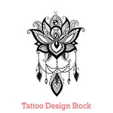 lotus mandala tattoo design digital download