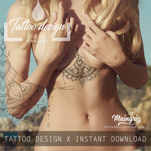 Load image into Gallery viewer, hundred sexy underboob sideboob mandala tattoos for woman