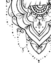 Load image into Gallery viewer, 5 mandala roses - tattoo design download #3