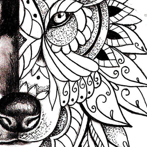 Mandala wolf tattoo design references created by tattoo artist