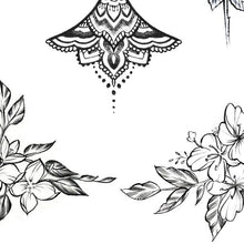Load image into Gallery viewer, flowers underboob download tattoo design