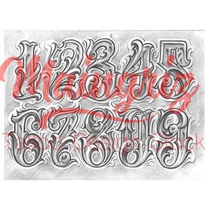 Chicano Numbers Tattoo Design Tattoos Download Even celebrities like rihanna, angelina jolie and miley cyrus all have such tattoos. chicano numbers tattoo design download 1
