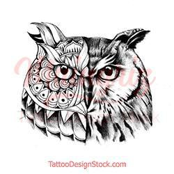 Owl mandala tattoo design high resolution download