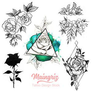 5 originals roses tattoo design for tattoo artists