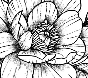 Sexy peony sideboob linework tattoo design high resolution download