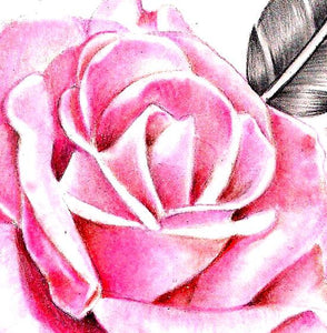 Precious stone with sexy realistic rose  tattoo design high resolution download