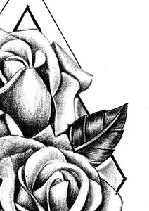 3 x Realistic rose tattoo design high resolution download
