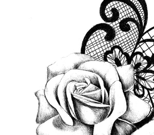 Realistic rose with lace - download tattoo design #6
