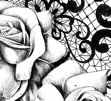 Load image into Gallery viewer, Realistic rose with lace - download tattoo design #5