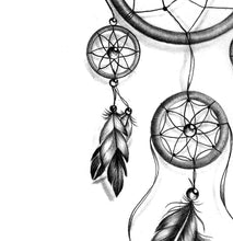 Load image into Gallery viewer, Realistic leg dreamcatcher  tattoo design high resolution download