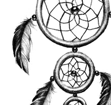 Load image into Gallery viewer, Realistic dreamcatcher  tattoo design high resolution download