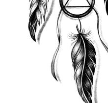 Load image into Gallery viewer, Realistic dreamcatcher with rubbon tattoo design high resolution download