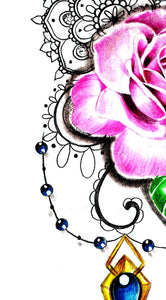 Saphir and sexy roseSaphir and sexy rose tattoo design high resolution download