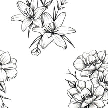 Load image into Gallery viewer, 5 amazing flowers tattoo design high resolution download