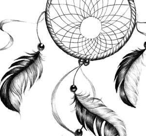 Sexy dreamcatcher realistic  tattoo design high resolution download
