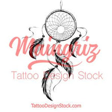 Load image into Gallery viewer, Sexy dreamcatcher realistic  tattoo design high resolution download