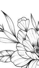 Load image into Gallery viewer, Sexy peony linework forearm  - tattoo design download