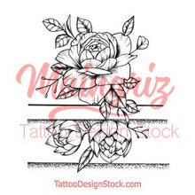 Load image into Gallery viewer, Sexy peony linework forearm tattoo design high resolution download