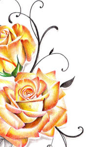 Sexy precious stone with realistic rose tattoo design high resolution resolution