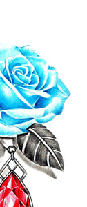 Sexy rose with precious stone tatoo design high resolution download