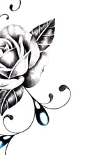 Load image into Gallery viewer, Sexy rose realistic with precious stone tattoo design high resolution download