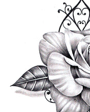 Load image into Gallery viewer, Sexy rose realistic rose with precious stone- download tattoo design