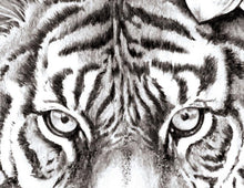 Load image into Gallery viewer, Realistic tiger with lotus tattoo design high resolution download