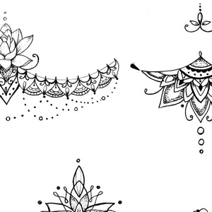 Mandala & lace under boob tattoo designs references created by tattoo artists