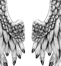 Load image into Gallery viewer, Wing tattoo design high resolution download