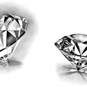 10 realistic diamonds tattoo design references high resolution download