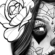 Load image into Gallery viewer, amazing catrina tattoo design digital download by tattoo artist