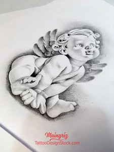 cherub tattoo design high resolution download by tattoodesignstock.com