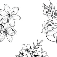 Load image into Gallery viewer, Flowers Mixed Tattoo design
