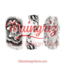 Load image into Gallery viewer, clouds effect sleeve tattoo design high resolution download