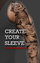 Load image into Gallery viewer, create your own sleeve tattoo design with this digital tattoo pack