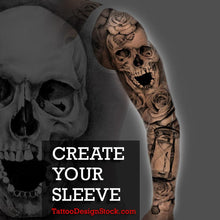 Load image into Gallery viewer, custom your own sleeve tattoo from scratch by tattoodesignstock