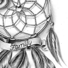 Load image into Gallery viewer, dreamcatcher family tattoo design