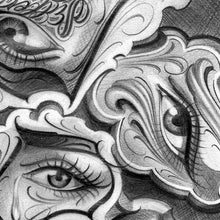 Load image into Gallery viewer, chicano eyes for sleeve tattoo design digital pack by tattoodesignstock.com