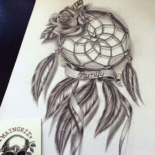 Load image into Gallery viewer, dreamcatcher dowload tattoo design references