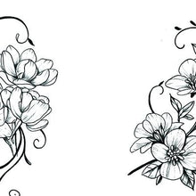 Load image into Gallery viewer, Flowers arabesque Tattoo design