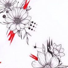 Load image into Gallery viewer, Flowers trash polka Tattoo design