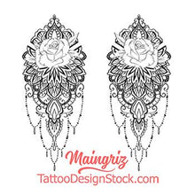 Load image into Gallery viewer, half sleeve mandala Tattoo Design