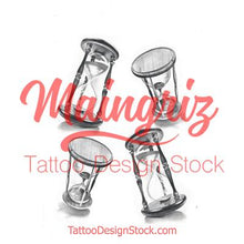 Load image into Gallery viewer, amazing hourglass tattoo design high resolution download
