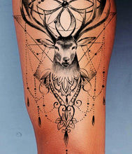 Load image into Gallery viewer, Original Geometric deer tattoo design
