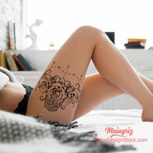 Load image into Gallery viewer, lace garter sexy girls tattoo ideas