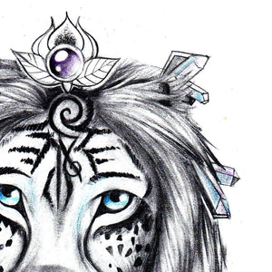 lion and dreamcatcher with pearl and feathers tattoo design references
