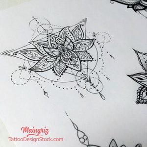 originals lotus mandala tattoo design created by tattoo artist