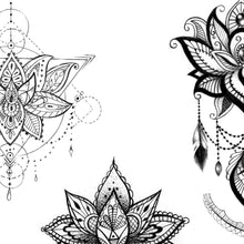 Load image into Gallery viewer,  lotus tattoo design high resolution download
