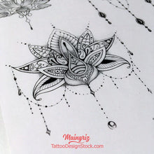 Load image into Gallery viewer, 6 Lotus mandala - download tattoo design #1
